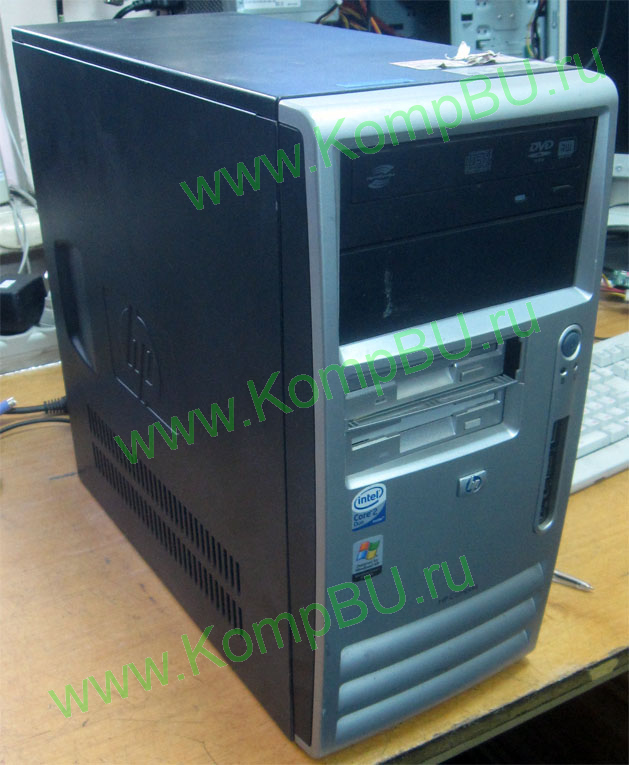 двухядерный компьютер Б/У HP Compaq dx7300 (Intel Core 2 Duo E6300 (2x1.86GHz) /1024Mb DDR2 /80Gb /video /DVDRW /sound /LAN /ATX 365W)