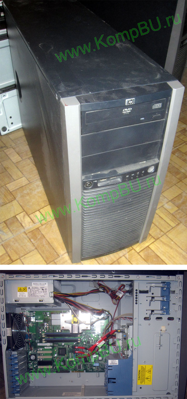 Б/У сервер HP Proliant ML310 G5 445333-421 (XEON 2x2.33GHz /1024Mb DDR2 ECC /2x160Gb /DVDROM /2xLAN 1G /410W ATX server case)