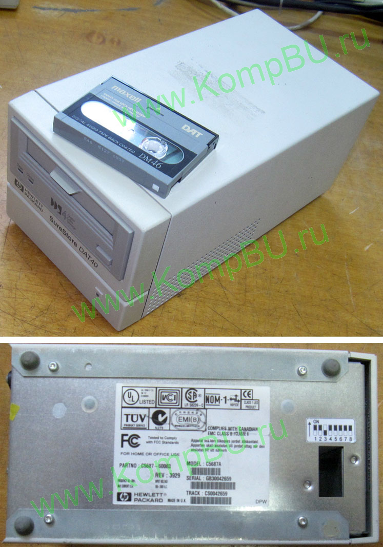 Фото: HP SuperStore DAT40 SCSI C5687A