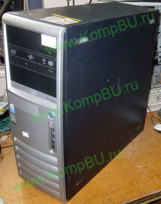 двухядерный компьютер Б/У HP Compaq dc7600 (Intel Pentium D 915 (2x2.8GHz) s775 /2048Mb DDR2 /250Gb SATA /video /no drive! /sound /LAN 1G /ATX 365W)