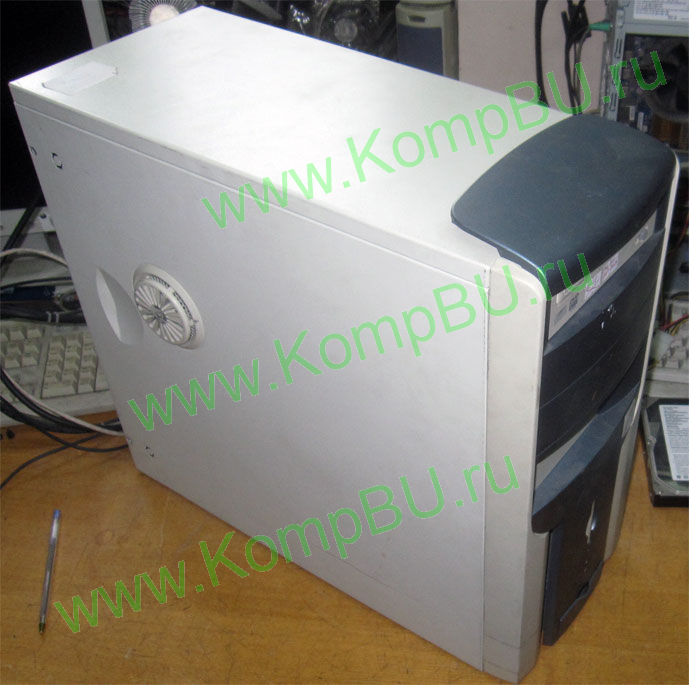 компьютер Б/У Intel Pentium-4 2.8GHz HT s478 /256Mb DDR1 /40Gb IDE /64Mb GeForce 4 MX440 (DVI) /no drive /sound /LAN /ATX 300W Inwin